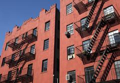 apartment building in nyc - stock photo