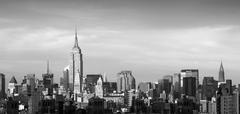 The chrysler building and empire state building, manhattan Stock Photos