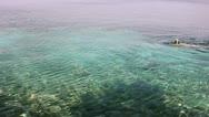 Snorkelling in croatia Stock Footage