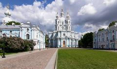Stock Photo of Smolny Cathedral Complex, St. Petersburg, Russia