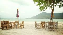 Empty Beach Cafe Stock Footage