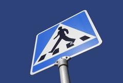 Alert walk sign Stock Photos