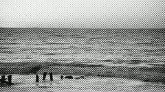 Halftone Ocean scene Stock Footage