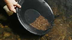 Gold panning Stock Footage