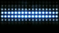 Floodlights flashing 2 Stock Footage