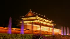 Beijing Tiananmen,China Political center. Stock Footage
