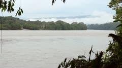Rio Napo flowing through the Ecuadorian Amazon Stock Footage