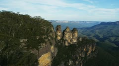 Three sisters at echo point Stock Footage