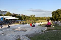leisure time in gorlitzer park berlin germany - stock photo