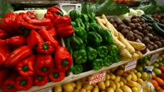 Vegetables from the farm Stock Footage