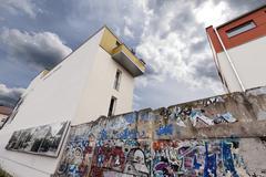 berlin wall bernauer strasse - stock photo