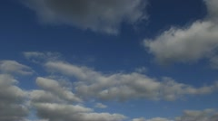 Timelapse Blue sky with clouds and sun. Stock Footage