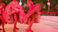 Stock Video Footage of Cancan performance from girls of famous Parisian cabaret