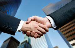 Stock Photo of business hand shake