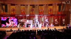 Final russian National Competition Woman Russia 2011 Stock Footage