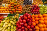 Exotic Fruits in a Market Stock Photos