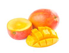 fresh delicious mango fruit and slice - stock photo