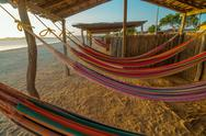 Colorful Beach Hammocks Stock Photos