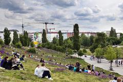 sunday at mauer park berlin germany - stock photo