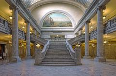 Utah State Capital building House of Representatives stair Stock Photos