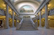 Stock Photo of Utah State Capital building House of Representatives stair