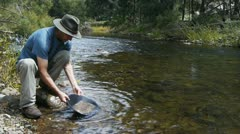 Gold prospector Stock Footage