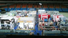 Clean expo seen from the stands at Olimpisky Stock Footage