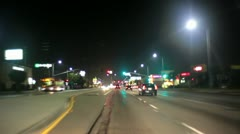 City Street Driving Timelapse Night Stock Footage