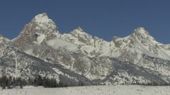 Stock Video Footage of P02587 Rocky Mountains in Winter