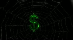 Dollar on web with alpha channel Stock Footage