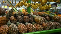 pineapple - stock footage