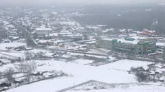 City panorama with traffic and mall in Moscow Stock Footage