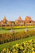 thai royal funeral and temple - stock photo