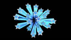 Star burst with alpha channel Stock Footage