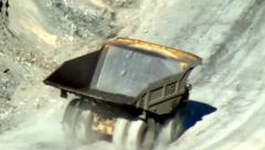 Dump Trucks, Coal Mines, Mining Industry, Energy Stock Footage