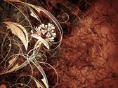 High detailed grunge abstract floral  background - collage Stock Illustration