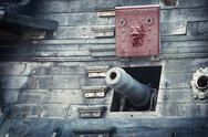 Old pirate ship Stock Photos