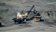 Stock Video Footage of Excavator, Coal Mines, Industrial Machines, Equipment