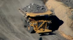 Dump Trucks, Coal Mines, Mining Industry, Energy - stock footage