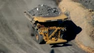 Stock Video Footage of Dump Trucks, Coal Mines, Mining Industry, Energy