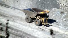 Stock Video Footage of Dump Trucks, Coal Mines, Mining Industry, Energy