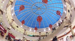 Rio Shopping Center dome, wide view, in Moscow Stock Footage