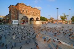 The Egyptian Bazaar in Istanbul Turkey Stock Photos