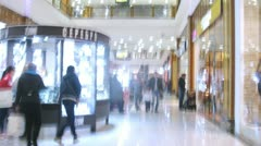Rio mall floor view in high speed in Moscow Stock Footage
