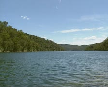 Akuna Bay in Ku-ring-gai Chase national park, Australia - low angle - stock footage