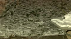 snow build up on patio - stock footage