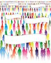 Crowd of people Stock Illustration