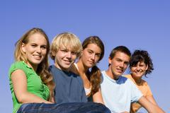 Group of happy smiling, youth Stock Photos