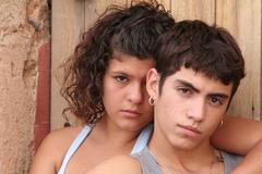 Spanish hispanic rebellious teens Stock Photos