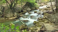 Stock Video Footage of Beautiful mountain stream